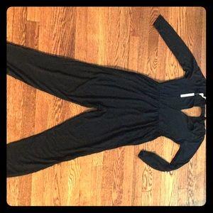ASOS black  long sleeve romper jumpsuit